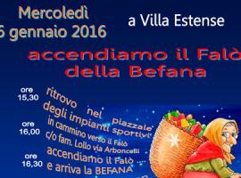 Arriva la befana a Villa Estense